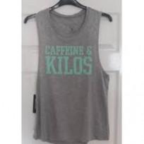 Caffeine & Kilos Womens Muscle Tank - Grey