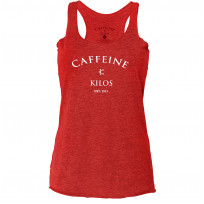 Caffeine & Kilos Women's Red Lady Toro Tank