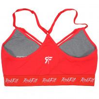 RokFit poppy elissa Sports Bra - Red