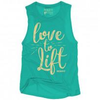 RokFit love to lift Womens Logo Tank