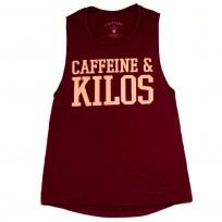 CAFFEINE & KILOS MAROON/CORAL TANK