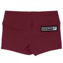 RokFit Womens merlot Booty Shorts