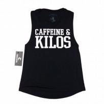 Caffeine & Kilos Womens Muscle Tank - Black