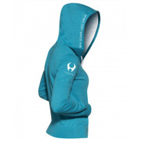 Hylete Women's compete performance 1.0 hoodie (Electric Blue/White)