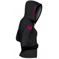 Hylete Women's compete performance 1.0 hoodie (Black/Shocking Pink)