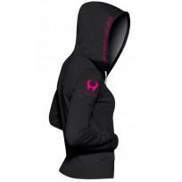 Hylete Women's compete performance 1.0 hoodie (Black/Shocking Pink)