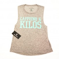 Caffeine & Kilos Womens Muscle Tank - Grey