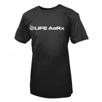 Life AsRx Mens Logo Tee - Black/White