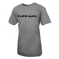 Life AsRx Mens Logo Tee - Grey/Black