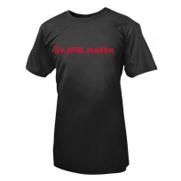 Life AsRx Mens Logo Tee - Black/Red