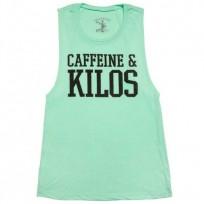 Caffeine & Kilos Womens Muscle Tank - Mint