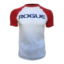 ROGUE Raglan - White/Red