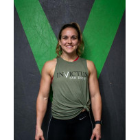 INVICTUS BATTLE TESTED MUSCLE TANK - WOMENS - ARMY GREEN