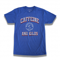 CAFFEINE & KILOS AUTHENTIC TEE BLUE